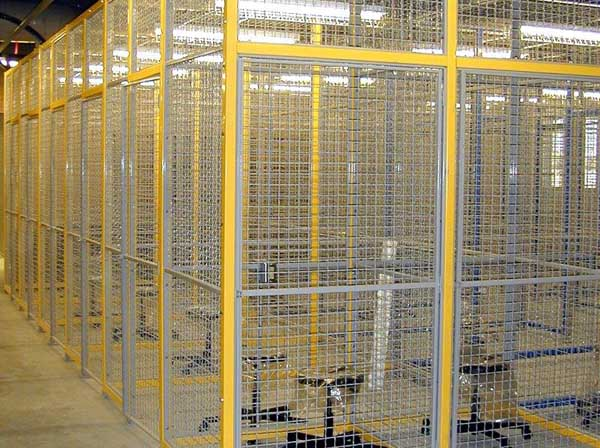 Wire Storage Cages - Yellow