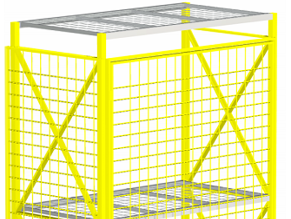 Wire mesh pallet rack backing and decking