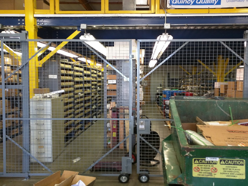 welded wire mesh facility storage