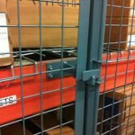 pallet racking protector from wire mesh